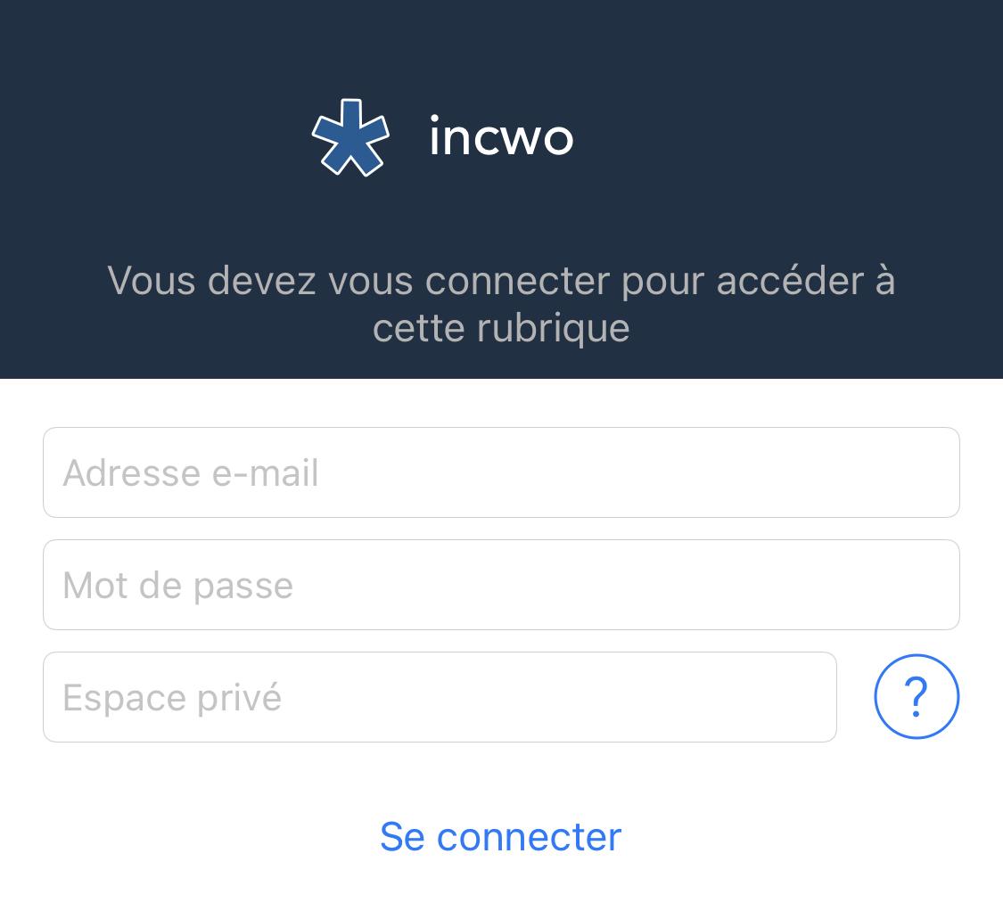 Les espaces privés sur incwo ERP