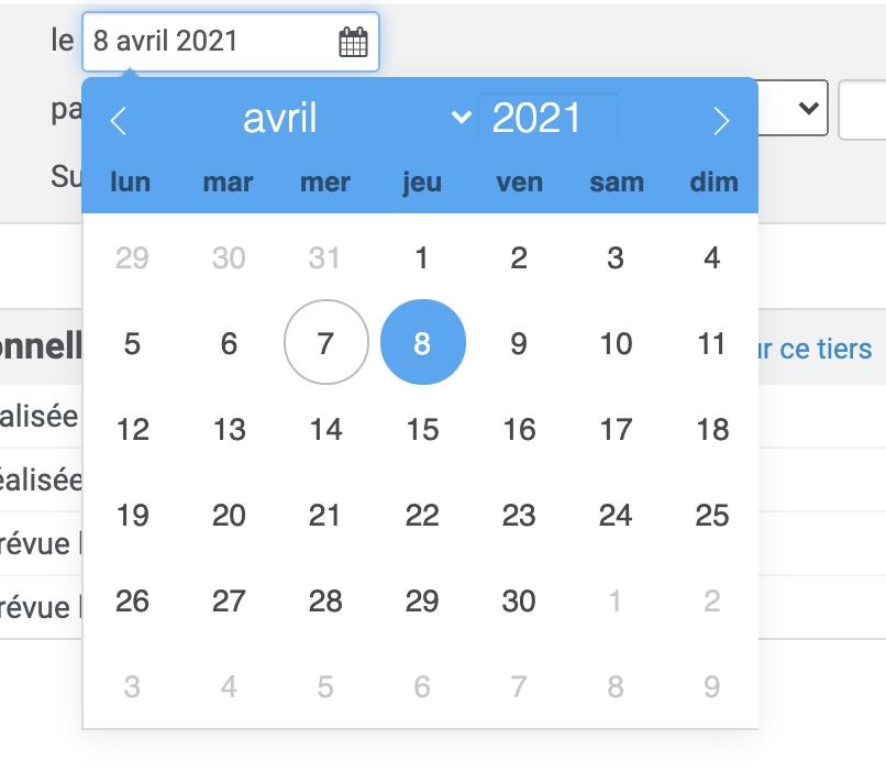 Un nouvel élément d'interface pour vos dates