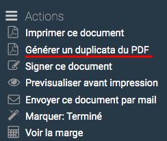 raccourci pour lancer la génération d'un nouveau PDF de la facture avec les informations mises à jour