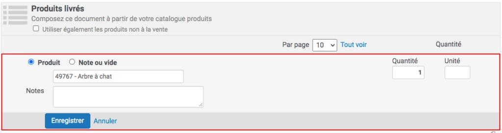le clic sur le crayon permet de repasser la ligne produit en rédaction pour la modifier